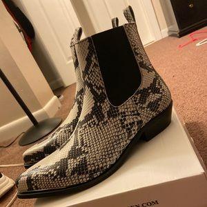 Steve Madden men's snake boots